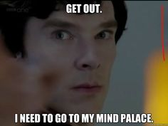 Sherlock. Mind Palace. From Hounds of Baskerville episode. Benedict Cumberbatch.