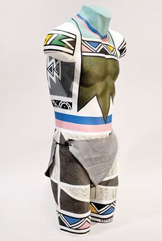 South African artist Esther Mahlangu is known for her brightly coloured paintings and murals in the Ndebele tradition. Her work has captured. Contemporary African Art, Contemporary Artwork, Contemporary Artists, Modern Contemporary, African Swimwear, African Traditions, Male Torso, South African Artists, Africa Art