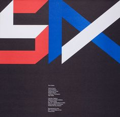'Six Artists', 520 x 530mm, 1970. Poster design: Jacqueline Casey.