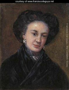 Retrato de la actriz Rita Luna, nacida en Málaga en 1770. Francisco de Goya, la retrató en dos ocasiones, aunque ella misma destruyó uno de los cuadros.