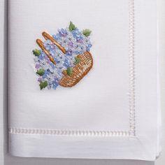 Nantucket Basket<br>Napkin - White Cotton