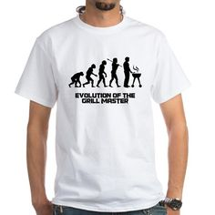 Evolution of the Grill Master White T-Shirt