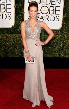 Golden Globes 2015 Kate Beckinsale in Elie Saab | blog.theknot.com