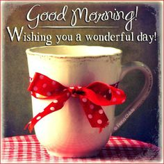 ¸.•´*¨`*•✿ Wishing you a wonderful day!