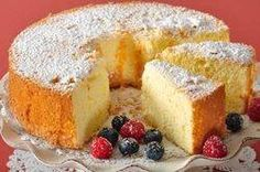 This American Sponge Cake has a sweet and lemony flavor and while its texture is moist, it is also wonderfully light and spongy. It does not contain solid fat. This cake can be eaten plain, or with whipped cream and fresh fruit. From Joyofbaking.com With Demo Video