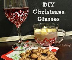 So easy and a great gift...hand painted Christmas glasses