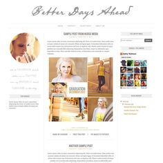 Blogger Template - 3 Column Blog Design Simple, Minimalist