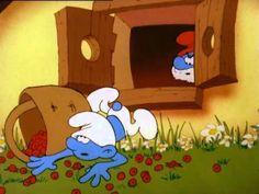 los pitufos (dibujo animado) , la varita magica