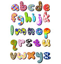 Free patterned lower case alphabet vector