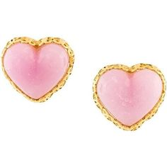 Chanel Vintage gripoix heart clip on earrings ($515) ❤ liked on Polyvore featuring jewelry, earrings, pink, heart earrings, pink jewelry, earring jewelry, chanel jewelry and vintage jewelry