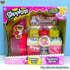 ・・・ *NEW* Shopkins Makeup Spot Playset Fashion Spree Shopkins Playsets, Shopkins Game, Shopkins Season 3, Shopkins Bday, New Shopkins, Shopkins Fashion Spree, Toys For Girls, Kids Toys, Shoppies Dolls