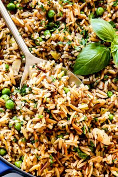 Rice Pilaf With Orzo, Easy Rice Pilaf, Brown Rice Pilaf, Wild Rice Pilaf, Rice Pilaf Recipe, Herbed Rice, Wild Rice Recipes, Pasta Recipes, Healthy Rice