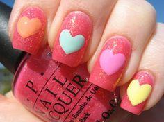 Inspiring Valentine's Day Nail Art 2014 For Girls,  2014 Valentines Day Nails Art #2014 #valentine #nails