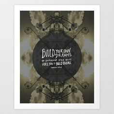 Build Your Dreams Art Print by Holly Press - $17.68