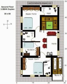 Precious 11 duplex house plans for 30x50 site east facing for 30x50 house plans