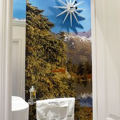 Why not create a wall mural of your favorite vacations spot and use it on your bathrooms wall.  Let it transport your mind to a different place and destress.