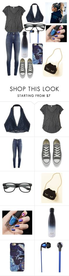 """""""Casual # 1"""" by bri007 ❤ liked on Polyvore featuring Hollister Co., Supra, Converse, ZeroUV, S'well, Forever 21 and The Sharper Image"""
