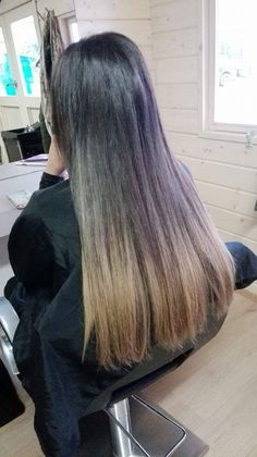 Selfmade ombre extensions