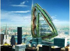 Dragonfly vertical farm for New York. 132 floors and 2000 ft tall.