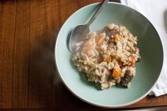 Risotto with butternut squash and mushrooms