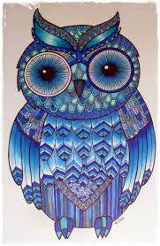 een mooie blauwe uil van Goolgle