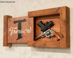Locking Concealed Storage Locking Gun Storage by HeinzWoodcraft