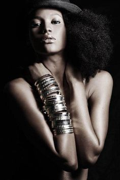 Natural hair....just bracelets and hair