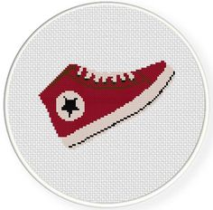 FREE for March 22nd 2014 Only - Hip Red Sneakers Cross Stitch Pattern