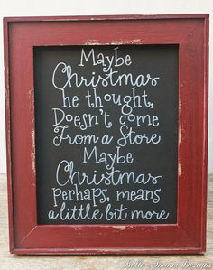 Christmas Decor Chalkboard Sign The Grinch by BelleAmourDesigns