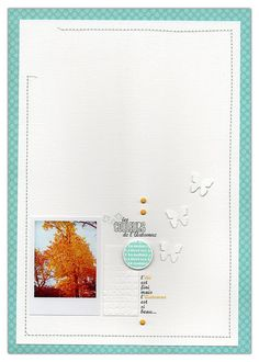 Love this clean and simple scrapbook page.