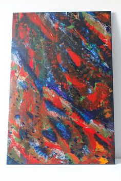 Acrylic Painting called Abstract Sea which i created while taking an art class at Fleisher.