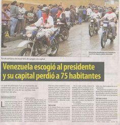 Sucesos elección presidencial Venezuela 2012 (1 de 2).