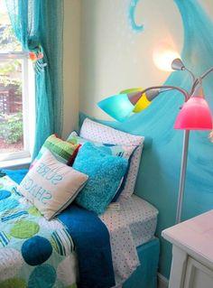 beach girls bedroom themes