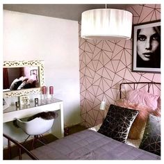 I Love Wallpaper Zara Shimmer Metallic Wallpaper Soft Pink Rose Gold Pink Bedroom Decor, Master Bedroom Interior, Pink Bedrooms, Gold Bedroom, Bedroom Ideas, Gold Wallpaper Living Room, Bathroom Wallpaper, Black White Bathrooms, Metallic Wallpaper