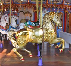 All sizes | Golden Carousel Horse | Flickr - Photo Sharing!