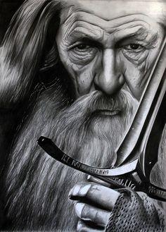 Ian McKellen Gandalf by donchild on DeviantArt Hobbit Art, O Hobbit, The Hobbit Movies, Gandalf Tattoo, Lotr Tattoo, Ian Mckellen Gandalf, Lord Of Rings, Lotr Trilogy, J. R. R. Tolkien