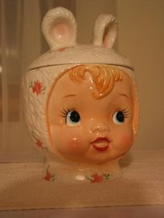 1965 Girl with Bunny Ears cookie jar