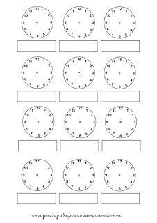 Aprender las horas con imagenes