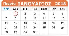 Πιερία: Γιορτάζουν σήμερα 1 Ιανουαρίου Periodic Table, Periodic Table Chart, Periotic Table