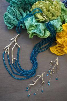 collezione Etra summer collana e orecchini argento e agate