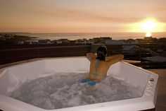 Welcome to The Roundhouse, rated as the best accommodation for Shark Cage Diving and a premiere bed and breakfast located in De Kelders, Round House, B & B, Bed And Breakfast, South Africa, Shark Cage, Hot Tubs, Diving, Vacations, Outdoor Decor