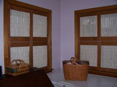 We designed these shutters with a sheer fabric....gorgeous!!!