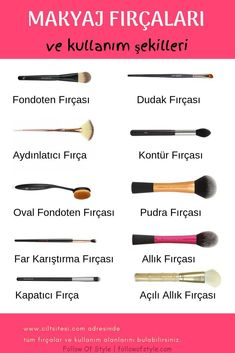 Hangi Makyaj Fırçası Niçin Kullanılır What are the names of the make-up brush, how to use and what is used for the best answers to questions such as detailed and visual as well as moving. # Makyajfırça of Hayat kurtaran makyaj ipuçları Sleek Make Up, Make Up Brush, Make Up Tutorial Contouring, Makeup Tutorial Foundation, Makeup Brush Cleaner, Makeup Brush Holders, Eyeliner, Mascara, Makeup Tips