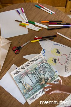 Where the Wild Things Are mask craft. Take your child's favorite monster book and help them create his/her own mask!