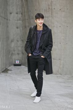 Street style: Byun Woo Seok at Seoul Fashion Week Fall 2015