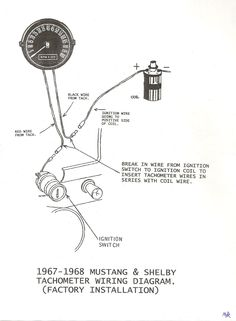 1967 mustang wiring to tachometer click image for larger 1967 mustang wiring to tachometer 1967 68 mustang shelby factory tach wiring diagram