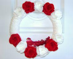 crochet wreath - Sorry No Pattern
