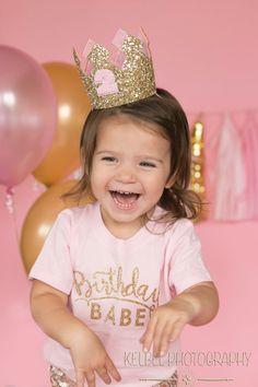 Custom Glittery Birthday Crown  Birthday Girl by Kutiebowtuties