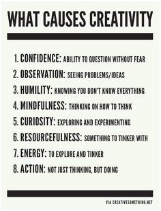 What Causes #Creativity? via @Christopher Weiss