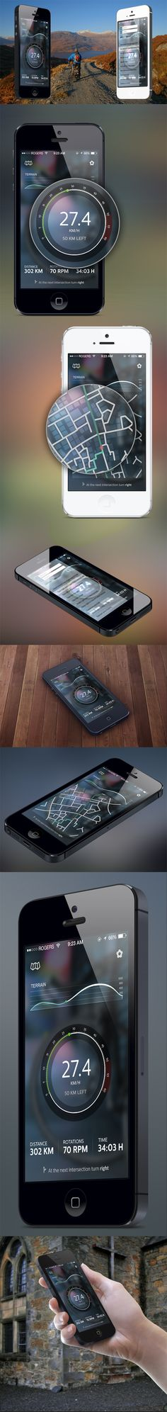 CyclingApp Concept by Stoica Alexandru, via Behance